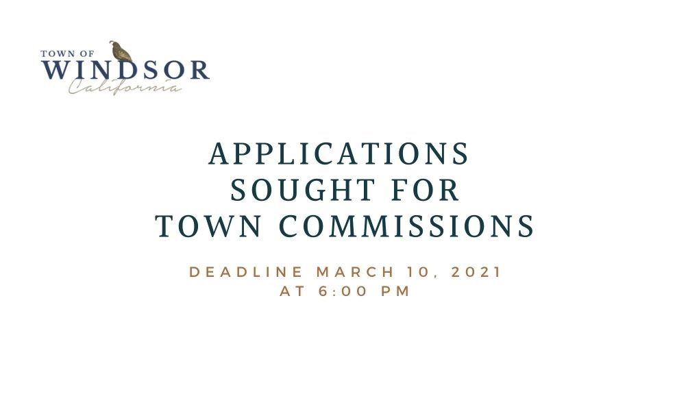 Applications Sought for town Commissions